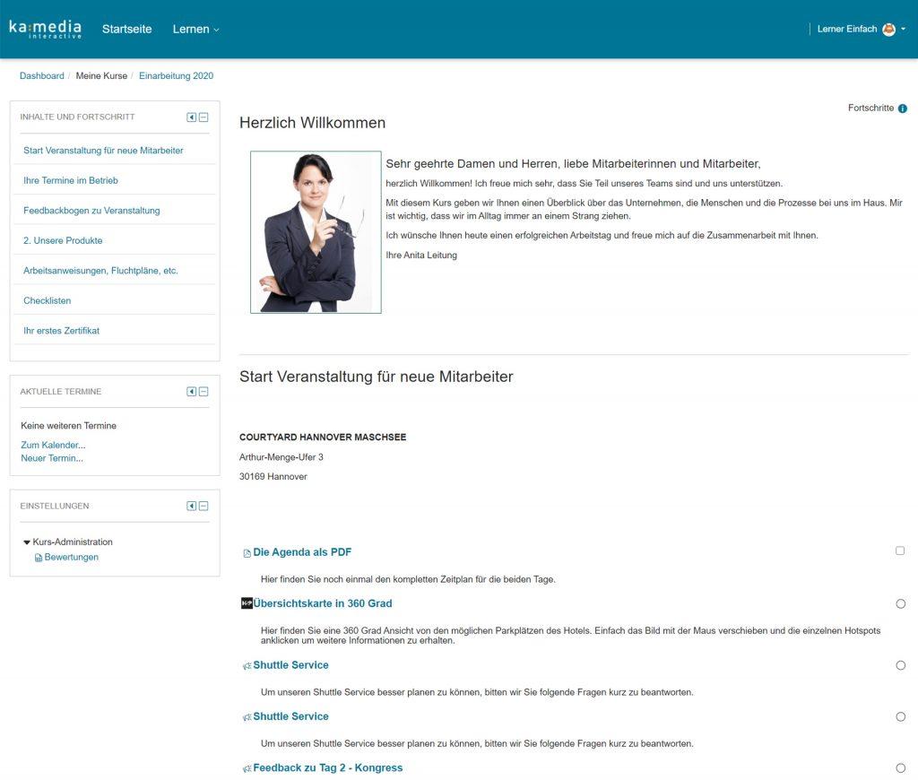 Kompletter Online-Kurs mit Verständnistest