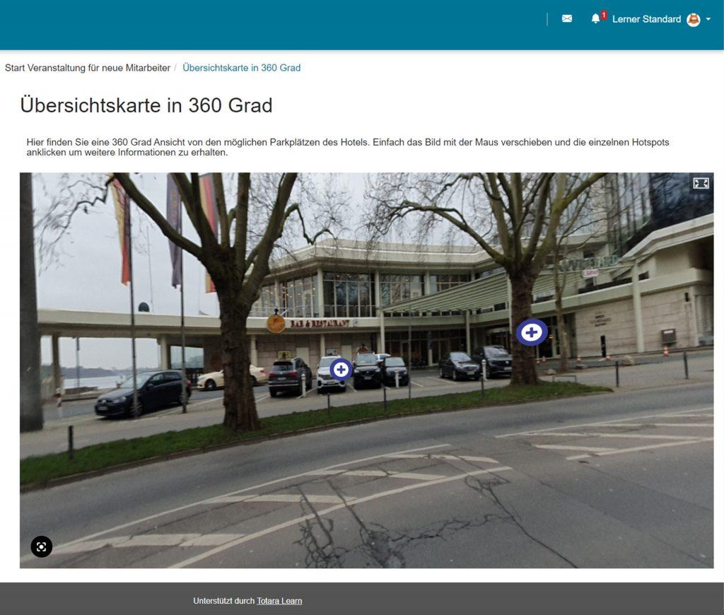Interaktive Panorama-Grafik mit Hotspots