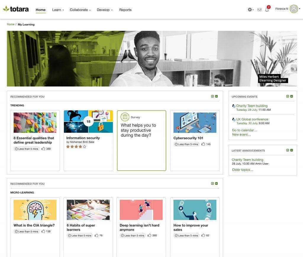 Totara Engage: Flexibles, geräteunabhängiges Lernen mit personalisierten Inhalten